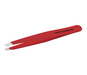 Stainless Steel Slant Signature Red Tweezer